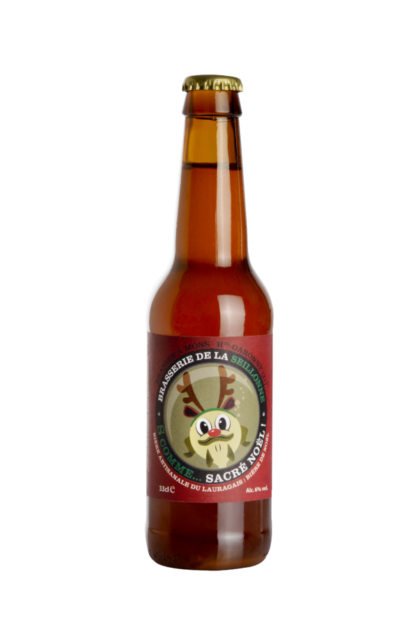 Bière blonde artisanale de Noël